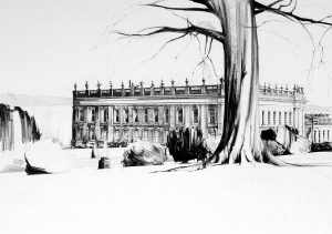Chatsworth Oil pastel on paper 70 x 100 cm